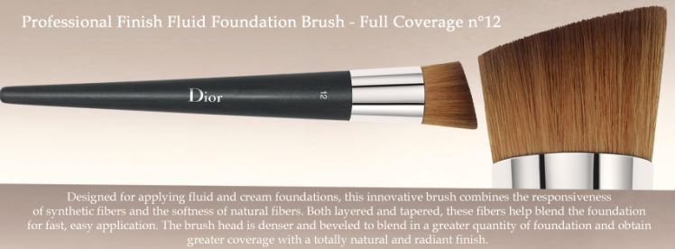 DIOR Foundation Brush Full Coverage n°12