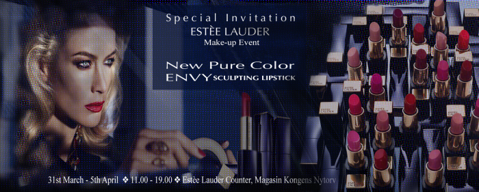 ESTÈEE LAUDER Make-up Event at Magasin Kongens Nytorv starting 31st March 2014