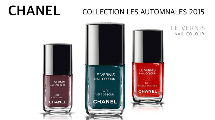 Chanel Le Vernis Nail Color - All 3 – FALL 2015 Collection
